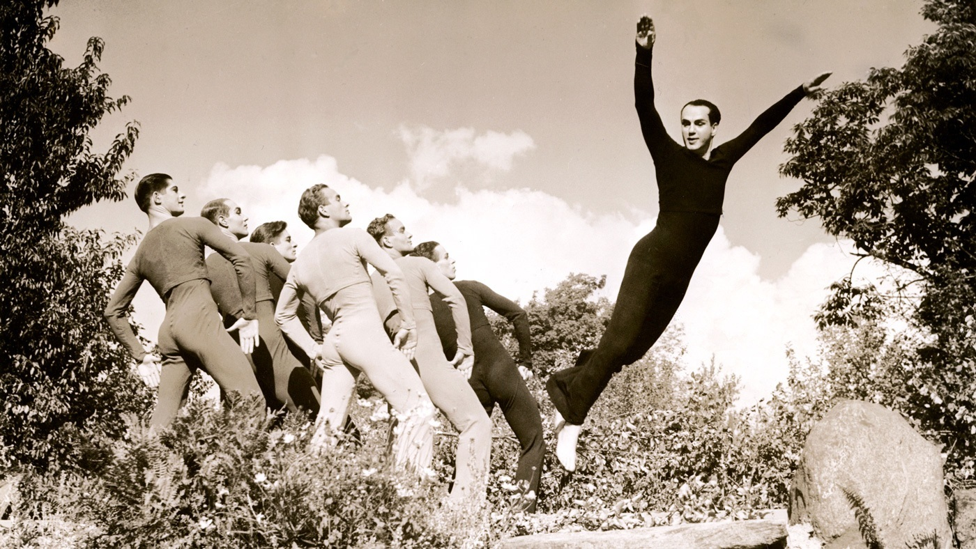 Ted Shawn and His Men Dancers in Dance of the Ages, 1938.  Photo: Shapiro Studios