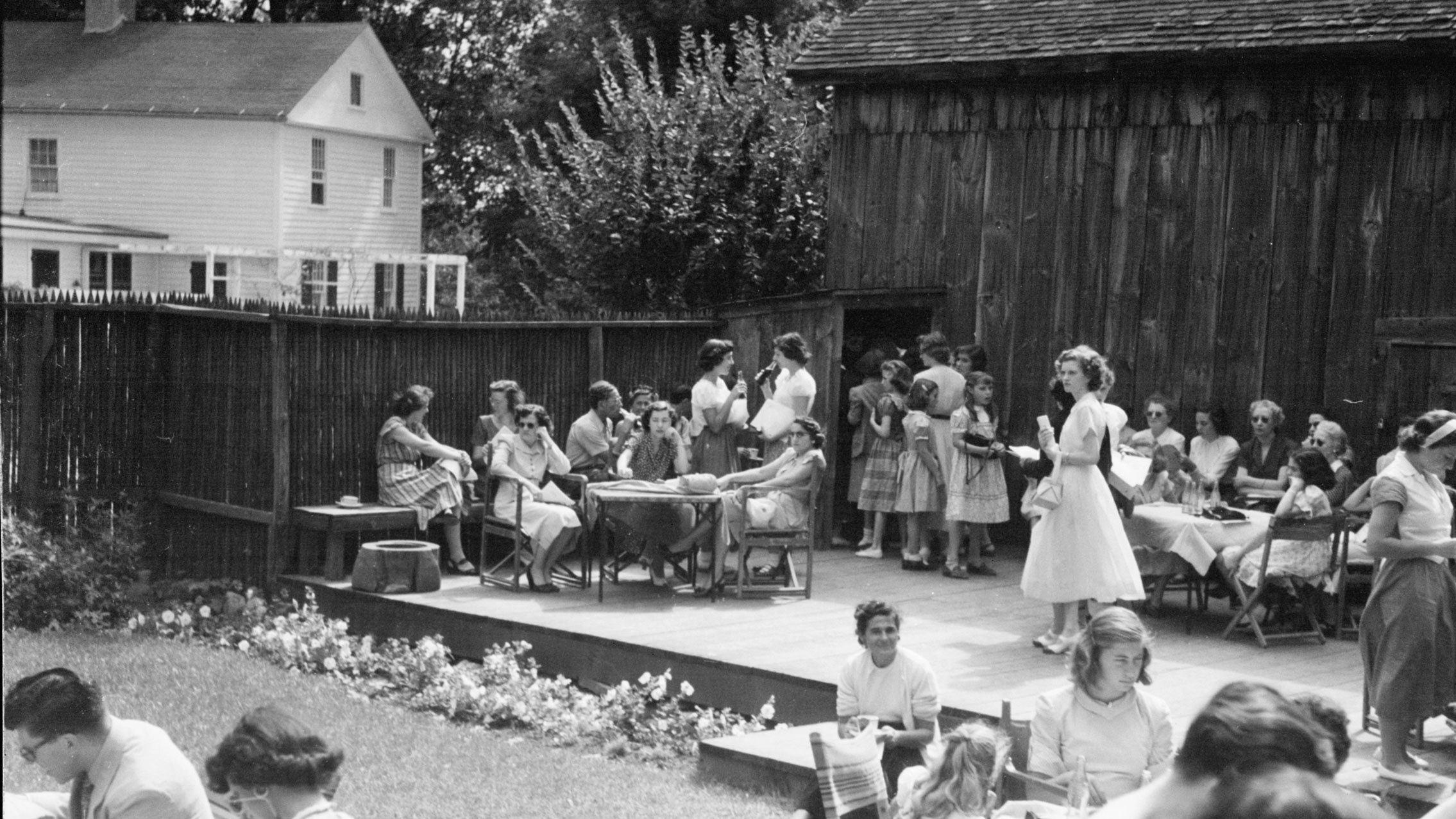 The Tea Garden circa 1949; photo John van Lund