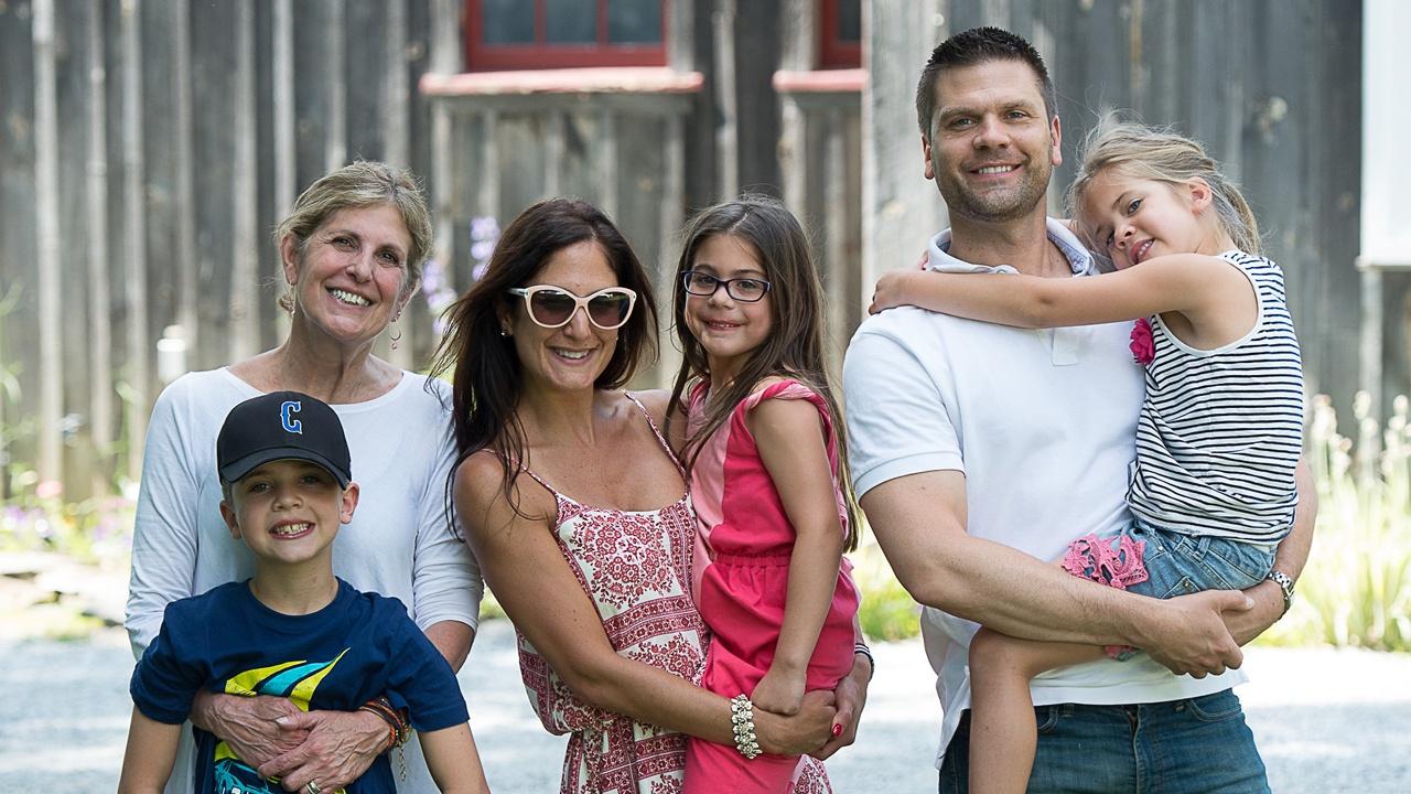 Laura Ingoglia and daughter Emily's family; photo Christopher Duggan