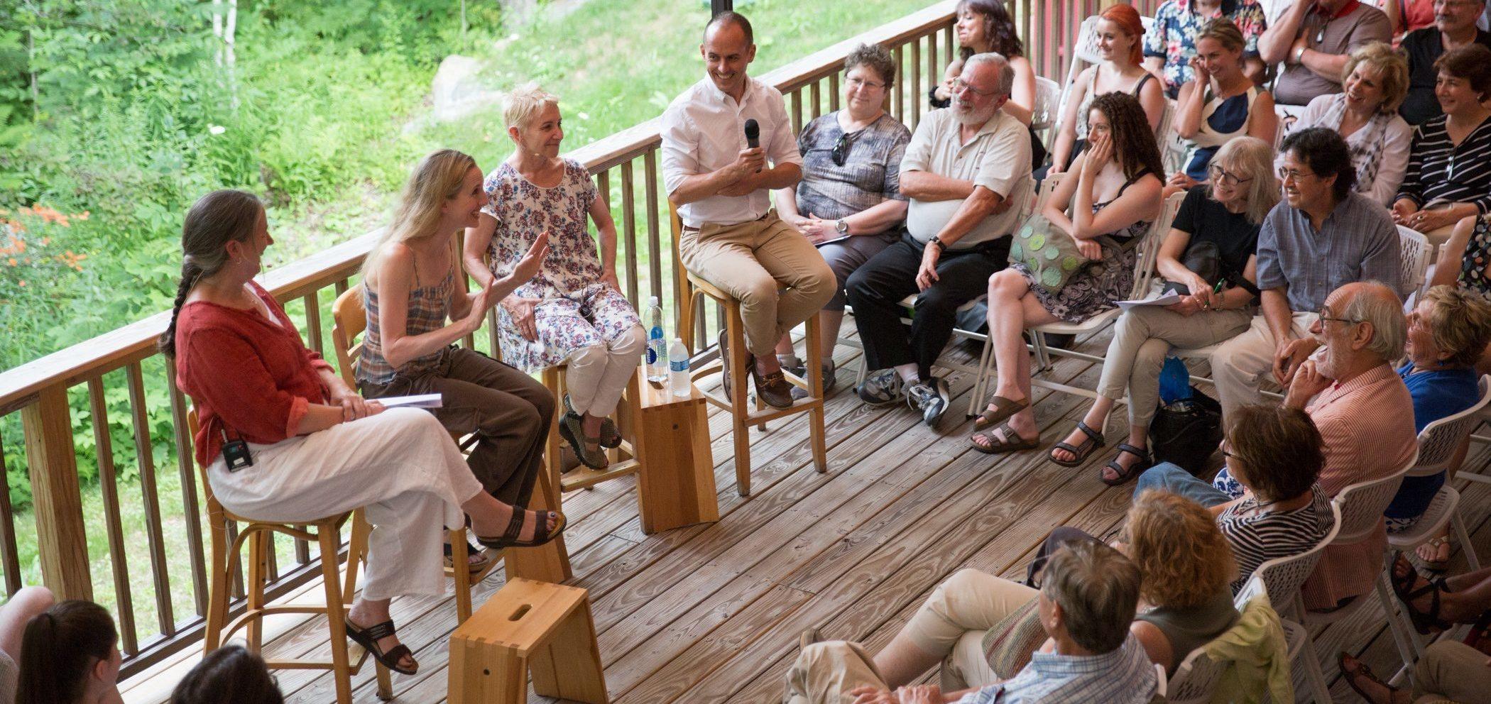 Wendy Whelan, Brian Brooks & Risa Steinberg PillowTalk; photo Hayim Heron