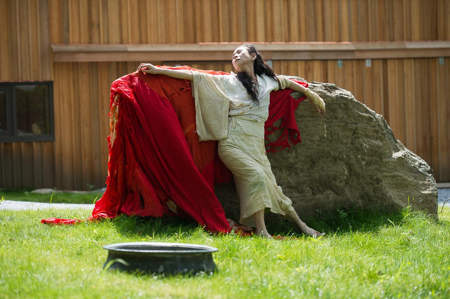 Eiko Otake in A Body at the Pillow; photo Brooke Trisolini