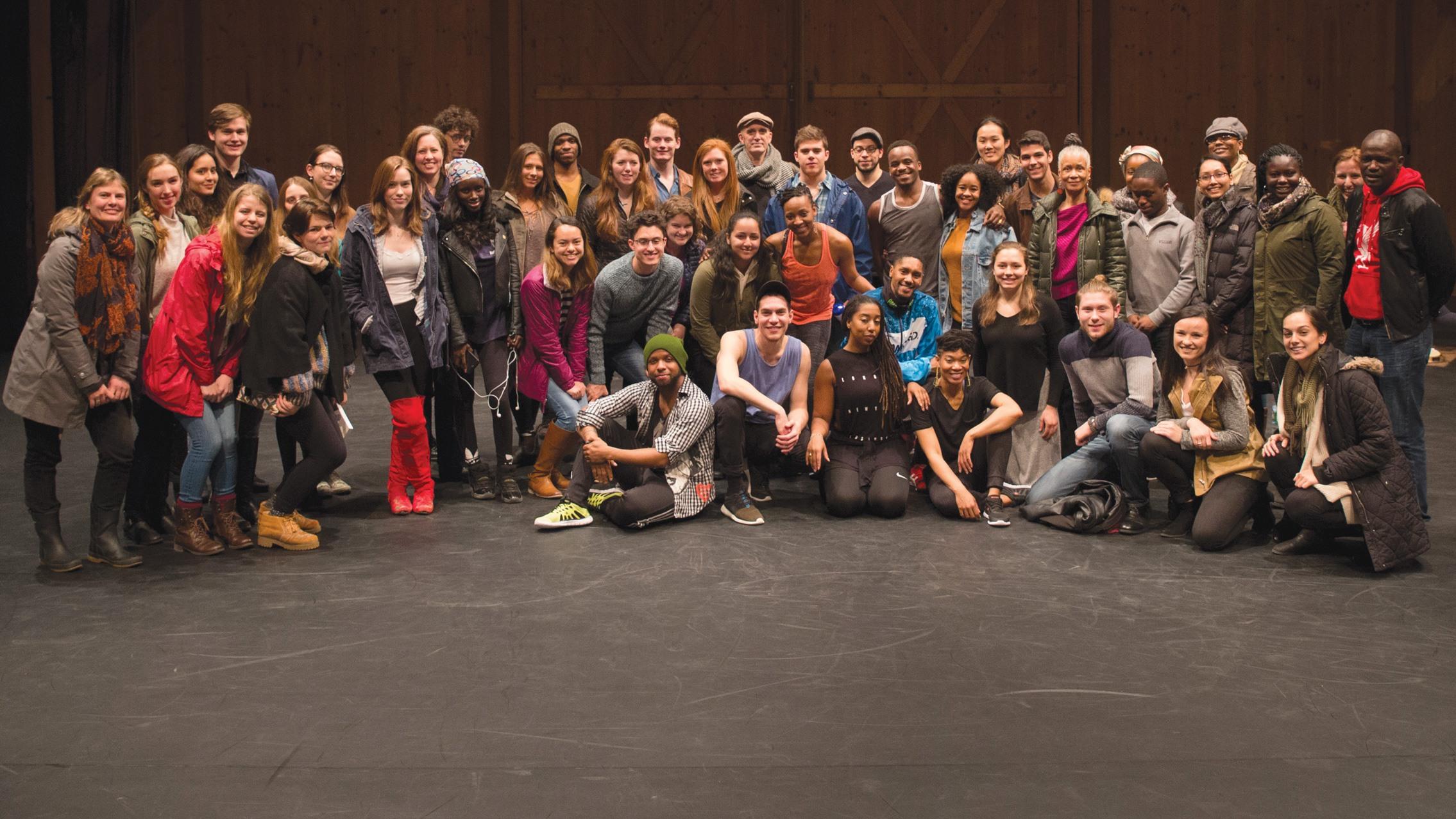 Camille A. Brown & Dancers and College Partnership Program participants; photo David Dashiell