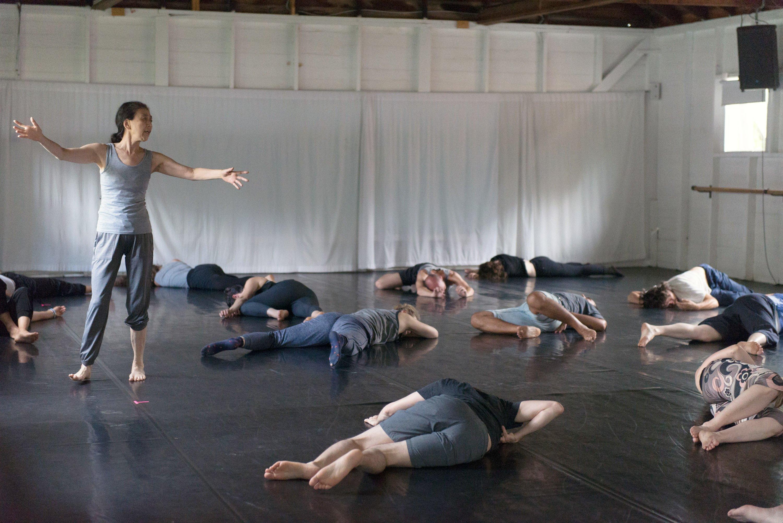Eiko Otake's Delicious Movement Workshop; photo Brooke Trisolini