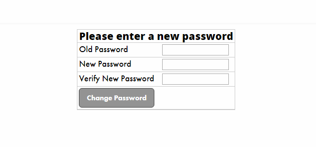 Member Portal; Update Password
