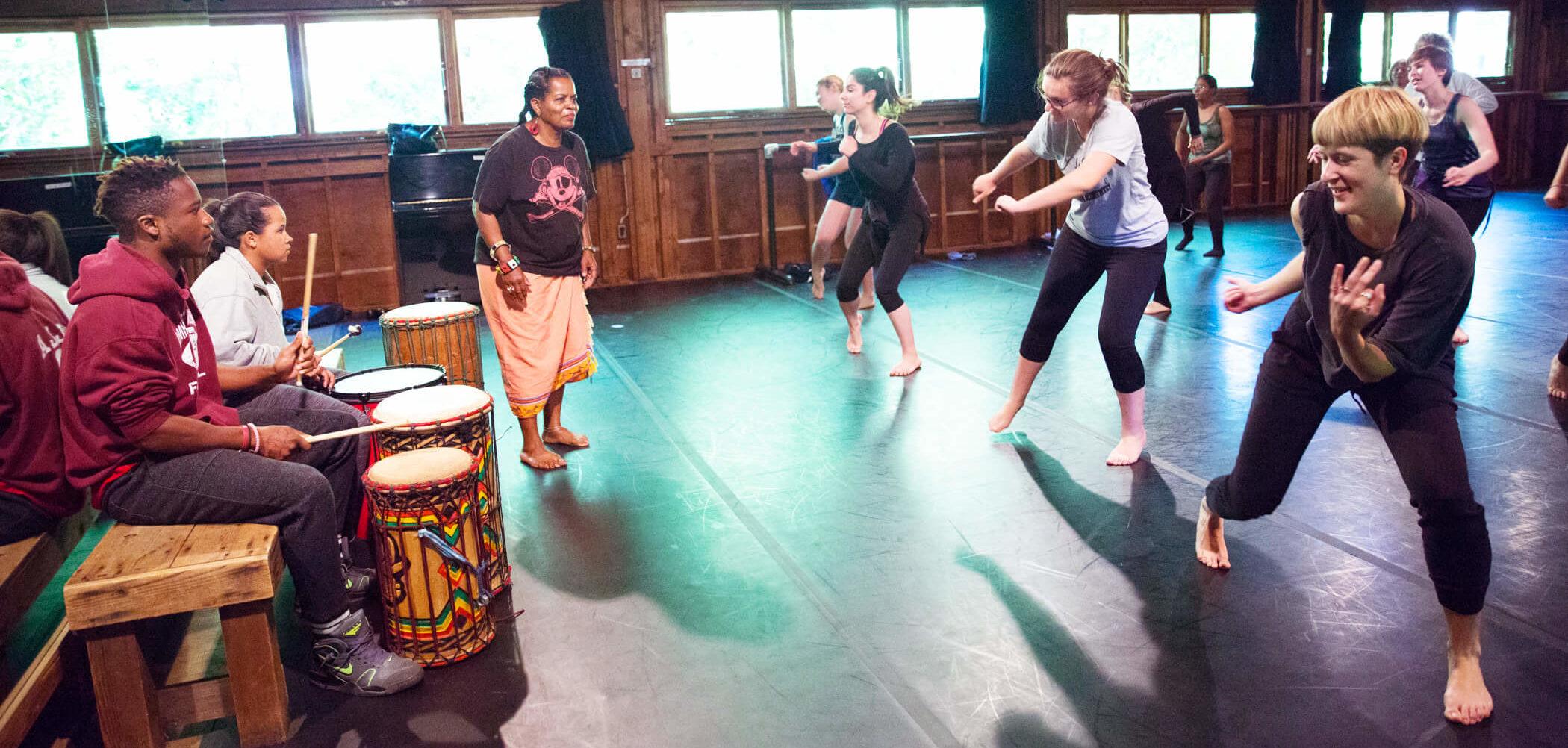 African Dance Morning Class; photo Hayim Heron