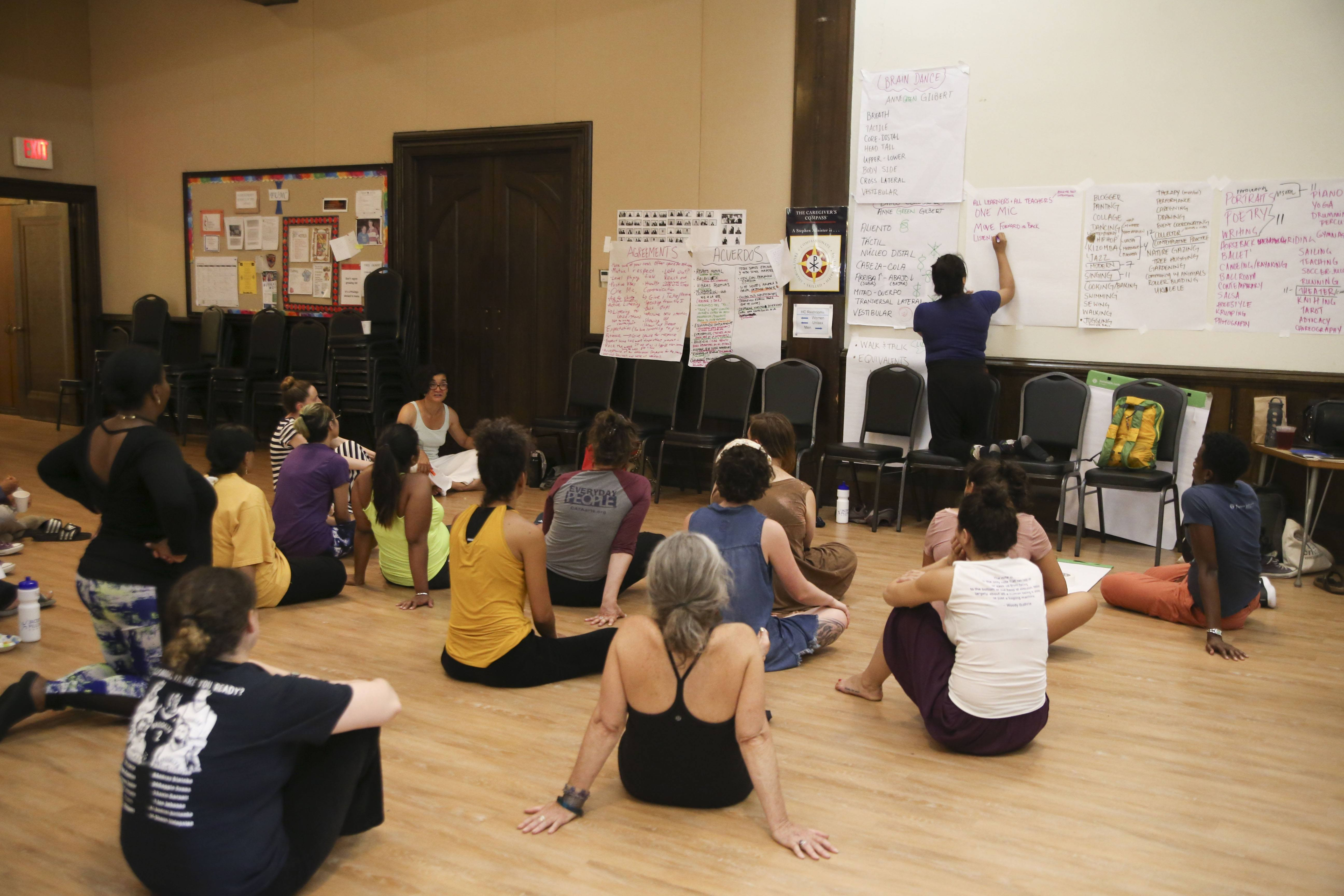 Pittsfield Moves! Residents discuss community assets & community movement; photo Noor Eemaan