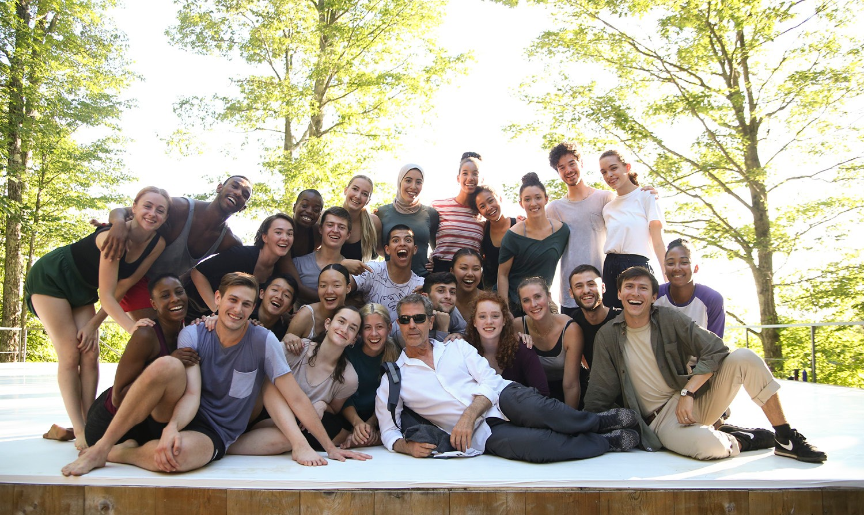 Gaga Program Dancers on Inside/Out with Ohad Naharin; photo Noor Eemaan