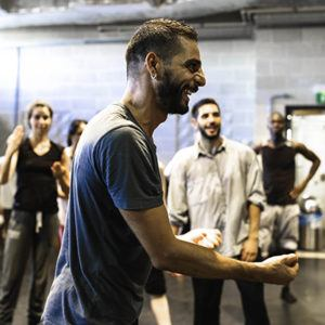Nicola Monaco teaching Akram Khan Master Class; photo unknown