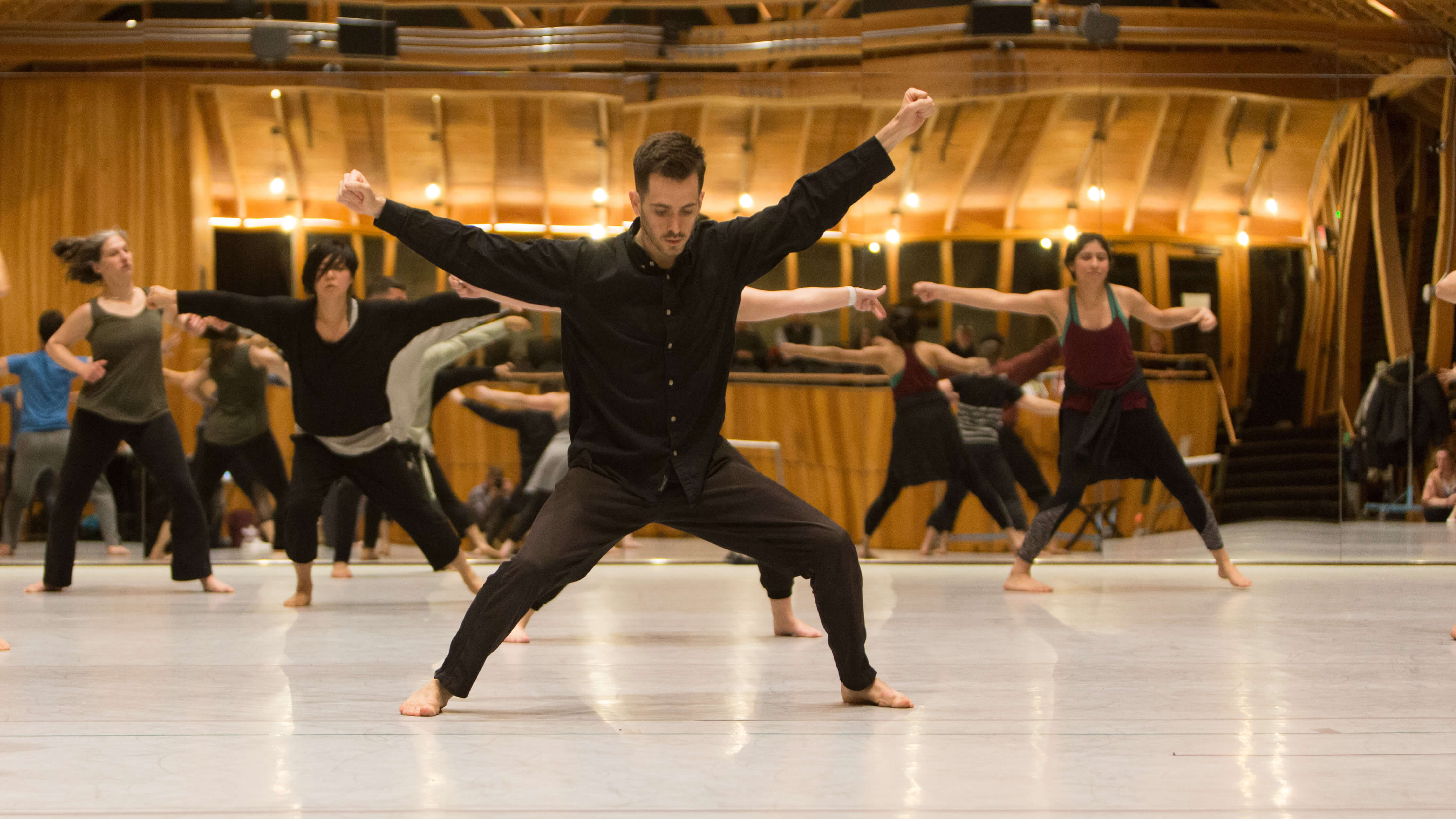 Russell Lepley at the Akram Khan Master Class; photo Greg Nesbit
