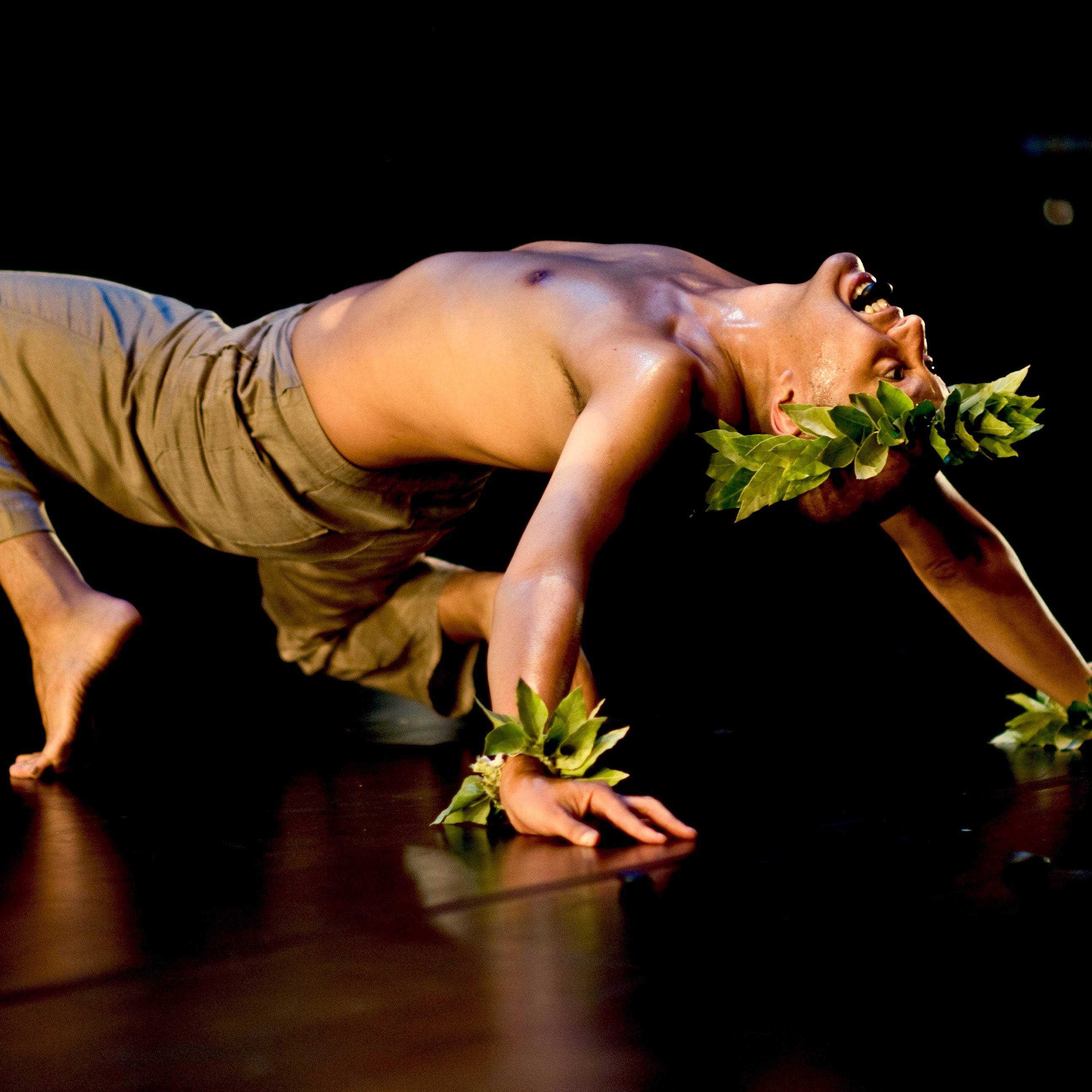 Christopher K. Morgan in 'Pōhaku'; photo Brian Allard