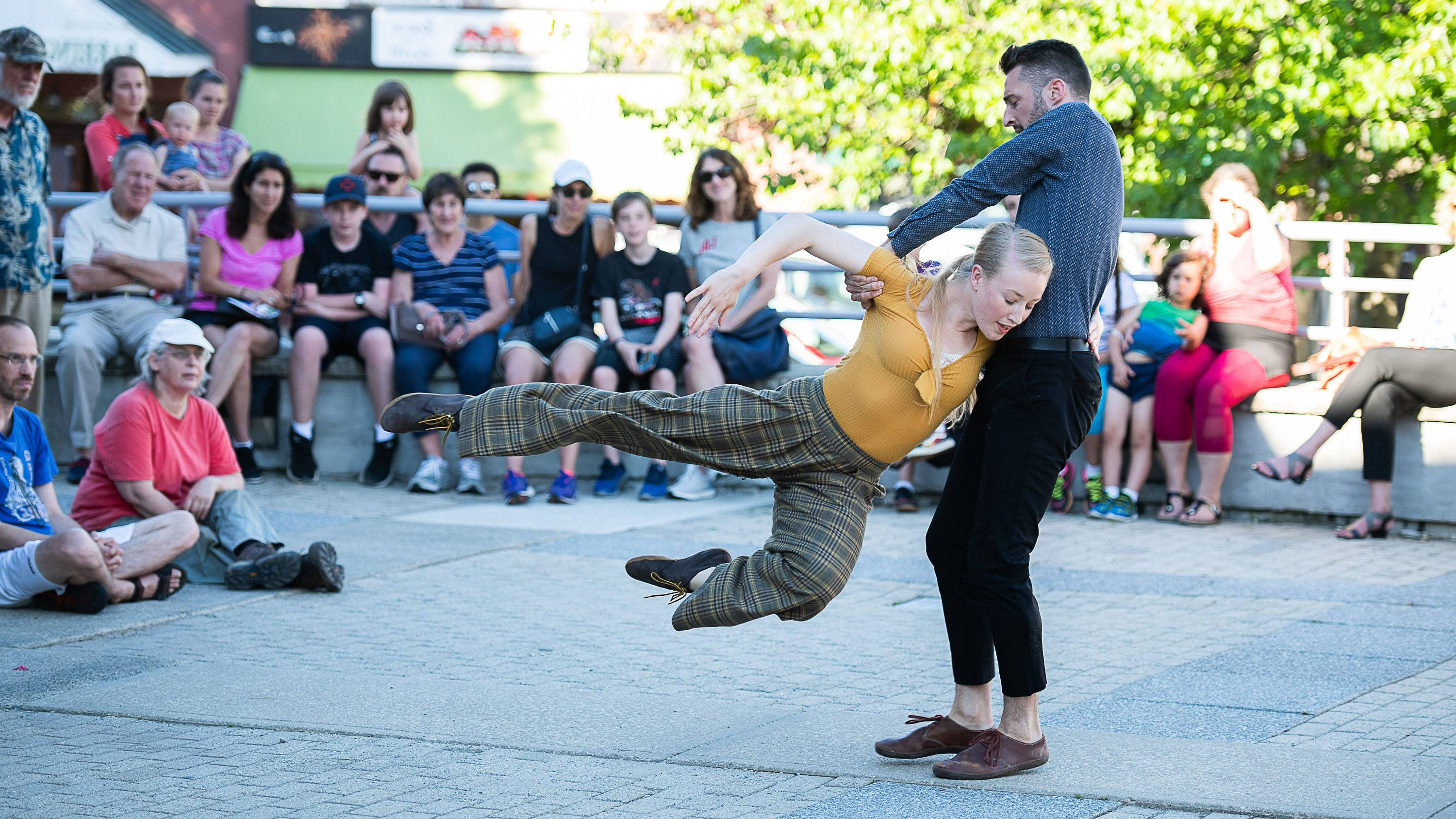 Janis Claxton Dance Pop-Up Performance in Great Barrington; photo Christopher Duggan