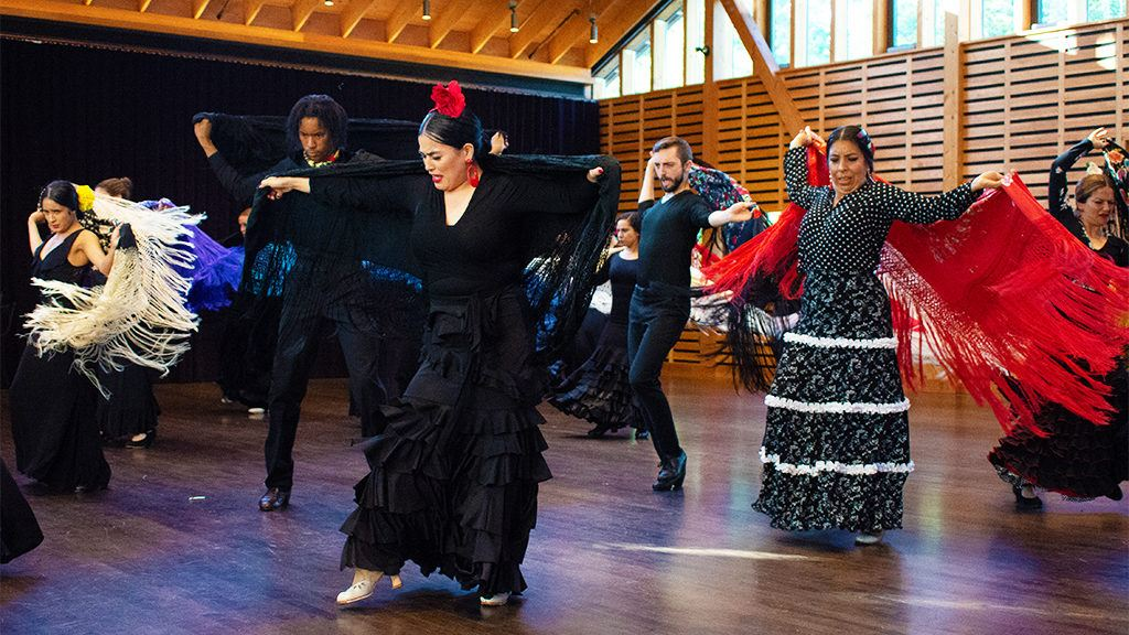 <small>Dancers of the Flamenco & Spanish Dance Program; photo Christopher Duggan</small>