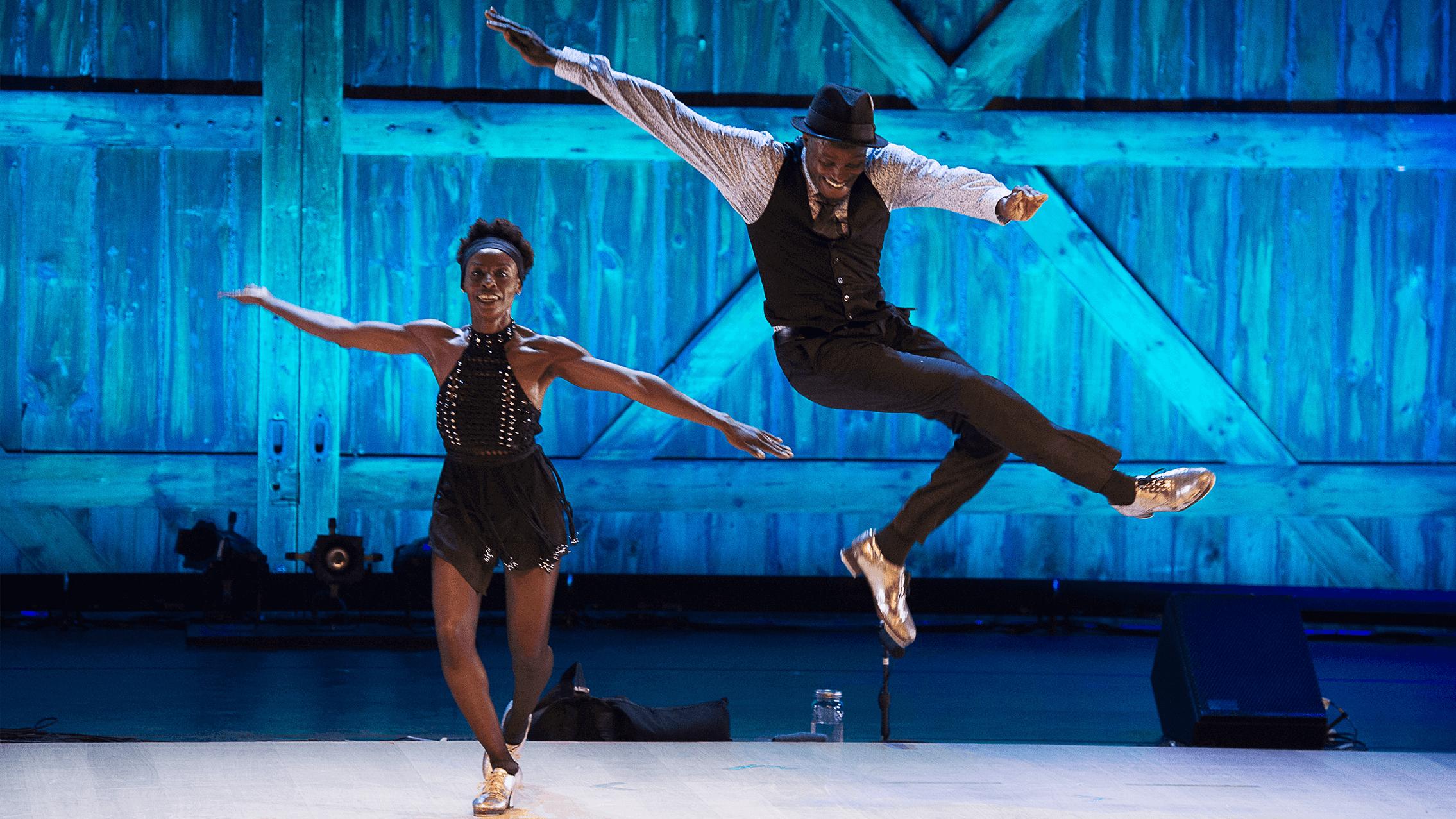 Josette Wiggan-Freund and Joseph Wiggan in TIRELESS A Tap Dance Experience; photo Christopher Duggan