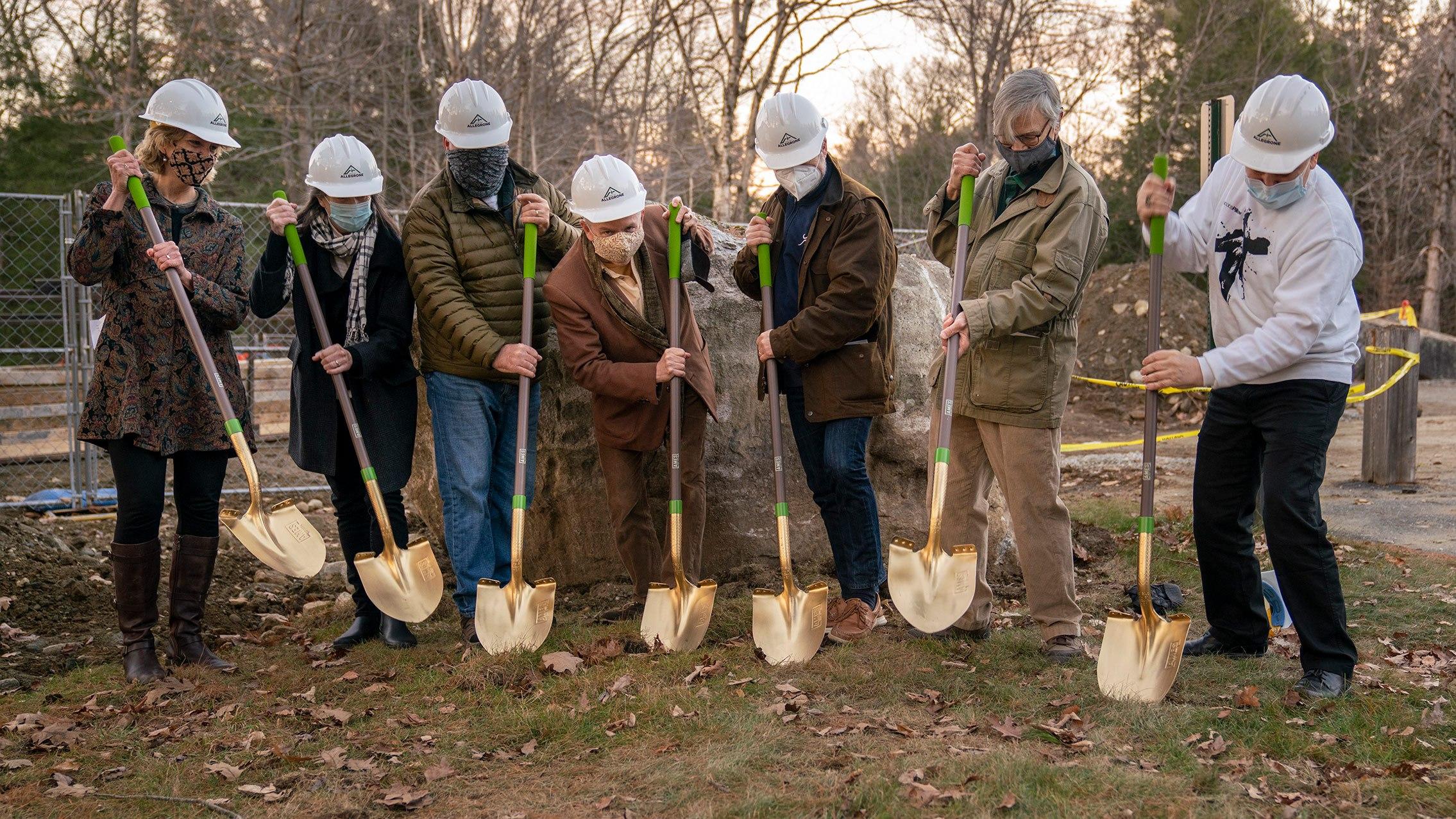 Blake's Barn Groundbreaking, November 2020; photo Keith Forman