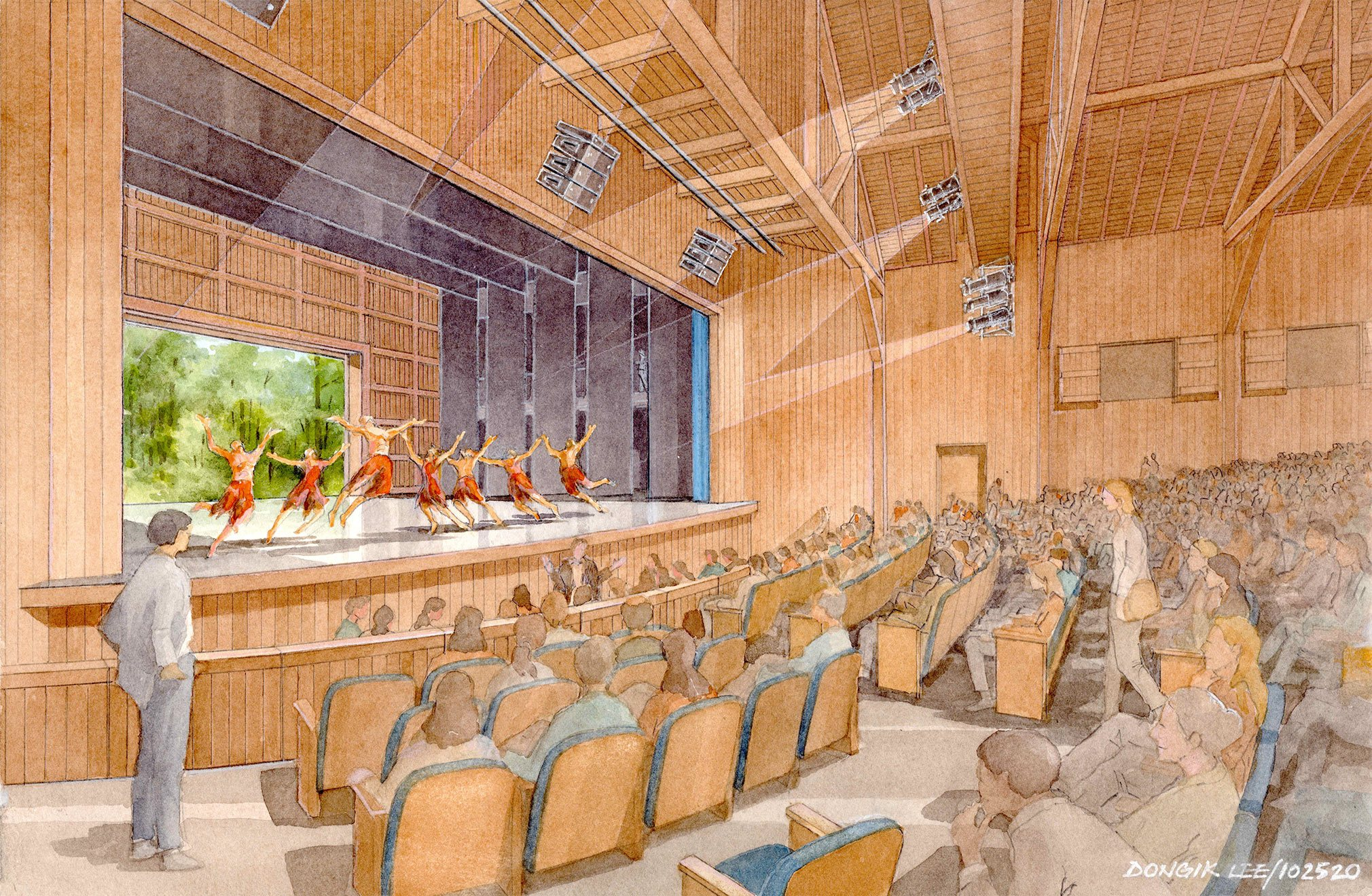 Ted Shawn Theatre rendering; Flansburgh Architects