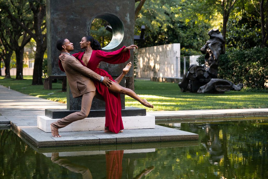 Dallas Black Dance Theatre Zion Pradier and Sierra Noelle Jones; photo Cori Baker