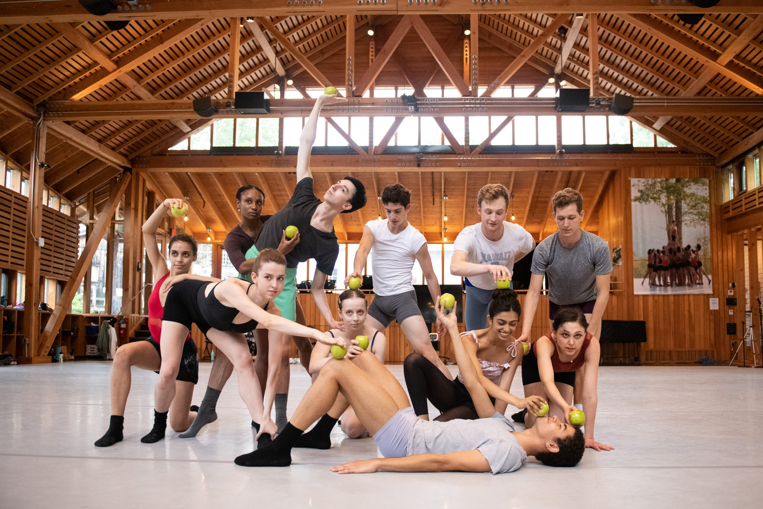 Dancers in the Perles Family Studio