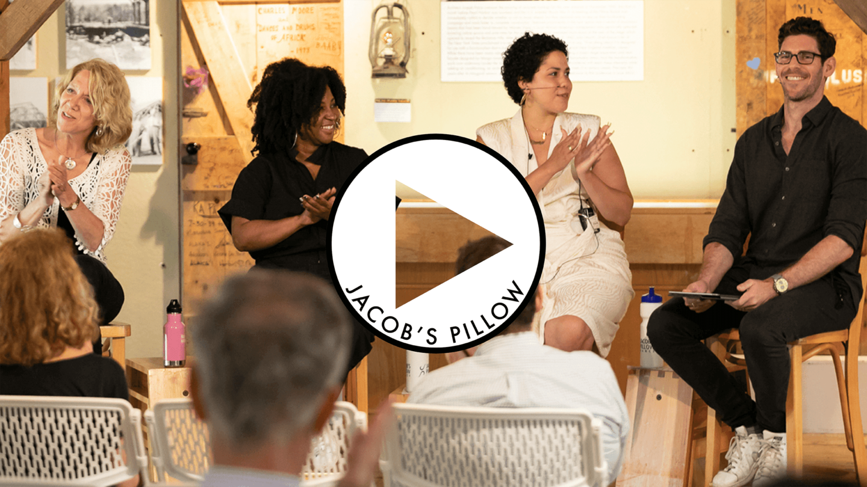 Pamela Tatge, Melanie George, Ali Rosa-Salas & Brian Schaefer in PillowTalk: Curatorial Voices; Photo Jamie Kraus